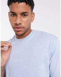 TOPMAN - Camiseta extragrande en azul Berlin - Lyst