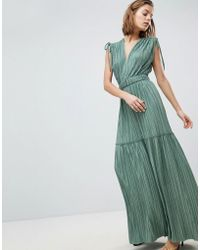 Sabina Musayev - Metallic Crinkle Tiered Dress - Lyst