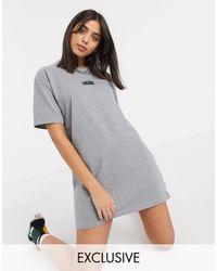 Vans Серое Повседневное Платье-футболка Эксклюзивно Для Asos-серый