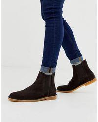SELECTED Suède Chelsea Boots - Bruin