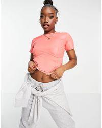 Fila Розовый Кроп-топ С Логотипом -розовый Цвет - Многоцветный