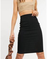 ASOS High Waisted Pencil Skirt - Black