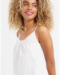 SELECTED Femme Knitted Vest With Scoop Neck - White