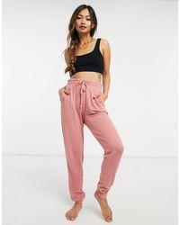 Chelsea Peers Soft Jersey Lounge Skinny Lounge Pants - Pink
