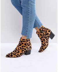 Office Aruba Leopard Print Boots