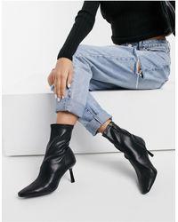 Stradivarius Skinny Heeled Boots - Black