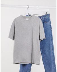 TOPMAN - Серая Меланжевая Oversize-футболка -серый - Lyst