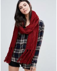 Alice Hannah - Chunky Cable Knit Scarf - Lyst