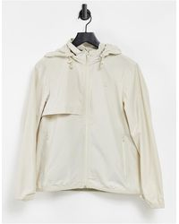 Lacoste Lightweight Hooded Wind Jacket - Natural