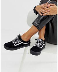 Vans Old Skool Premium - Baskets avec lacets motif damier - Noir