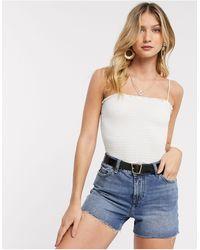 Vero Moda – Gesmoktes Camisole-Top - Pink