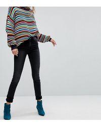 Monki Mocki Slim Mid Waist Jeans - Black