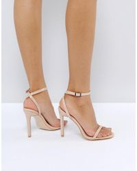 Public Desire - Notion Barely There Heeled Sandals - Lyst