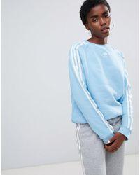 cef3b8be3937 Lyst - adidas Originals Oversized Cotton Sweatshirt in Pink
