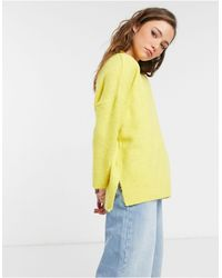 TOPSHOP Brushed Sweater - Yellow
