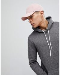 ASOS - Baseball In Pink Peached Texture - Lyst