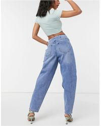 Vero Moda – Baggy-Jeans - Blau