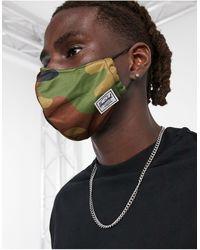 Herschel Supply Co. – Gesichtsmaske mit Military-Muster - Grün