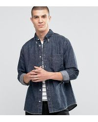 Brooklyn Supply Co. - Ripped Distressed Washed Black Shirt - Lyst