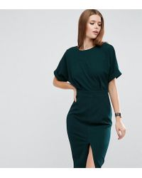 ASOS - Wiggle Dress With Split Front - Lyst