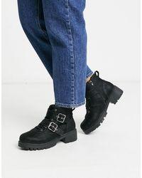 Vero Moda Chunky Biker Boots - Black