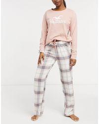 Hollister Фланелевый Комплект Для Сна Розового Цвета -розовый Цвет
