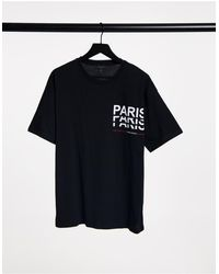 New Look T-shirt With Paris Print - Black