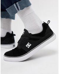 DC Shoes - Heathrow Vulc Trainers In Black - Lyst
