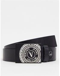 Versace Jeans Couture Черный Ремень С Квадратной Пряжкой -черный Цвет