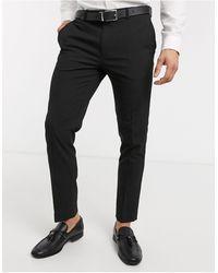 Burton Pantaloni da abito skinny neri - Nero