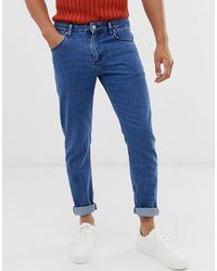 ASOS Slim Jeans In Retro Mid Wash Blue