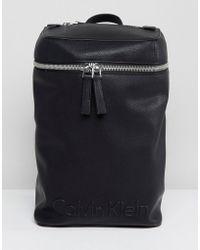 Calvin Klein | Embossed Logo Top Zip Backpack | Lyst