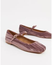 ASOS Late Mary Jane Ballet Flats - Pink