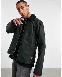 Barbour Вощеная Куртка Шалфейно-зеленого Цвета Munro-черный Цвет