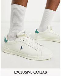 Polo Ralph Lauren - Эксклюзивные Кремовые Кроссовки С Логотипом В Виде Пони X Asos-белый - Lyst