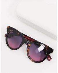 Marc Jacobs Круглые Солнцезащитные Очки В Черепаховой Оправе С Розовыми Стеклами -коричневый