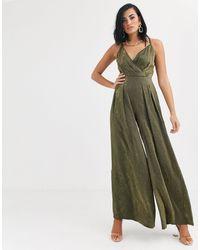 The Girlcode Wide Leg Jumpsuit - Green