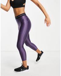 Nike Фиолетовые Легинсы Длиной 7/8 Nike Pro Training-голубой - Синий