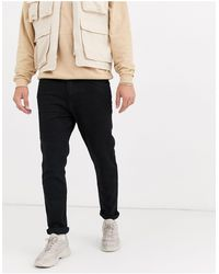Bershka Slim-fit Jeans - Zwart