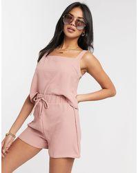 New Girl Order Co Ord Drawstring Beach Shorts - Pink