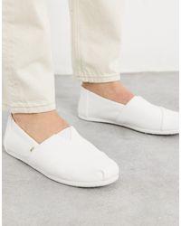 TOMS White Classics Aus Segeltuch Für Slip-On Schuhe - Weiß