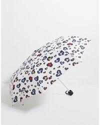 Fulton Animal Heart Umbrella-multi - Blue