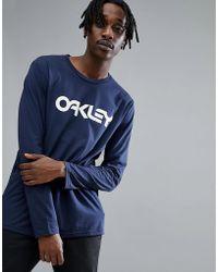 Oakley | 50-mark Ii Long Sleeve Top Logo Front In Navy | Lyst