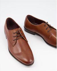 Walk London - Коричневые Кожаные Туфли Дерби На Шнуровке -коричневый - Lyst