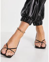 Public Desire Mika Heeled Sandals - Black