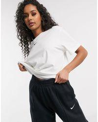 Nike Белая Oversized-футболка С Логотипом-галочкой -белый - Черный
