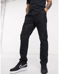 Wesc Pantalones holgados con cordón ajustable oxford - Negro