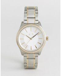 Armani Exchange - Silver Nicolette Watch - Lyst