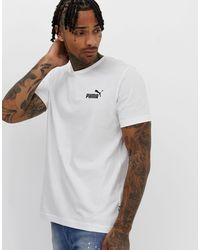 PUMA Essentials - T-shirt à petit logo - Blanc