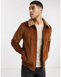 Burton Светло-коричневая Вельветовая Куртка С Воротником Из Искусственного Меха -коричневый Цвет